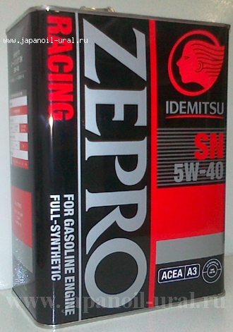 IDEMITSU ZEPRO RACING 5W40 SN 100% sinthetic 4L